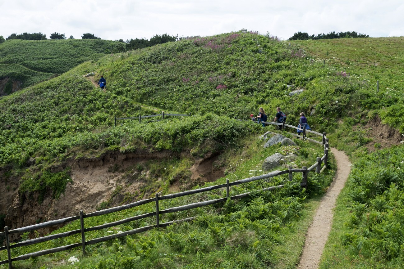 Hiking on the island of Herm