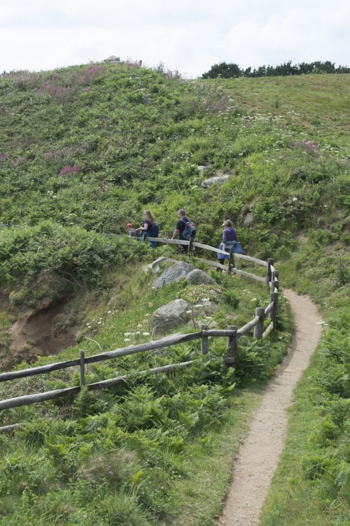 Hiking trail in Island of Herm, Channel Islands