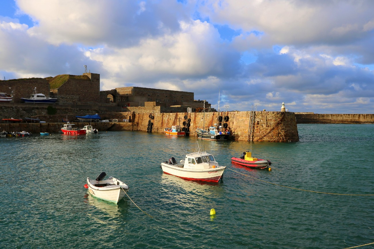 Braye Harbour on the island of Alderney