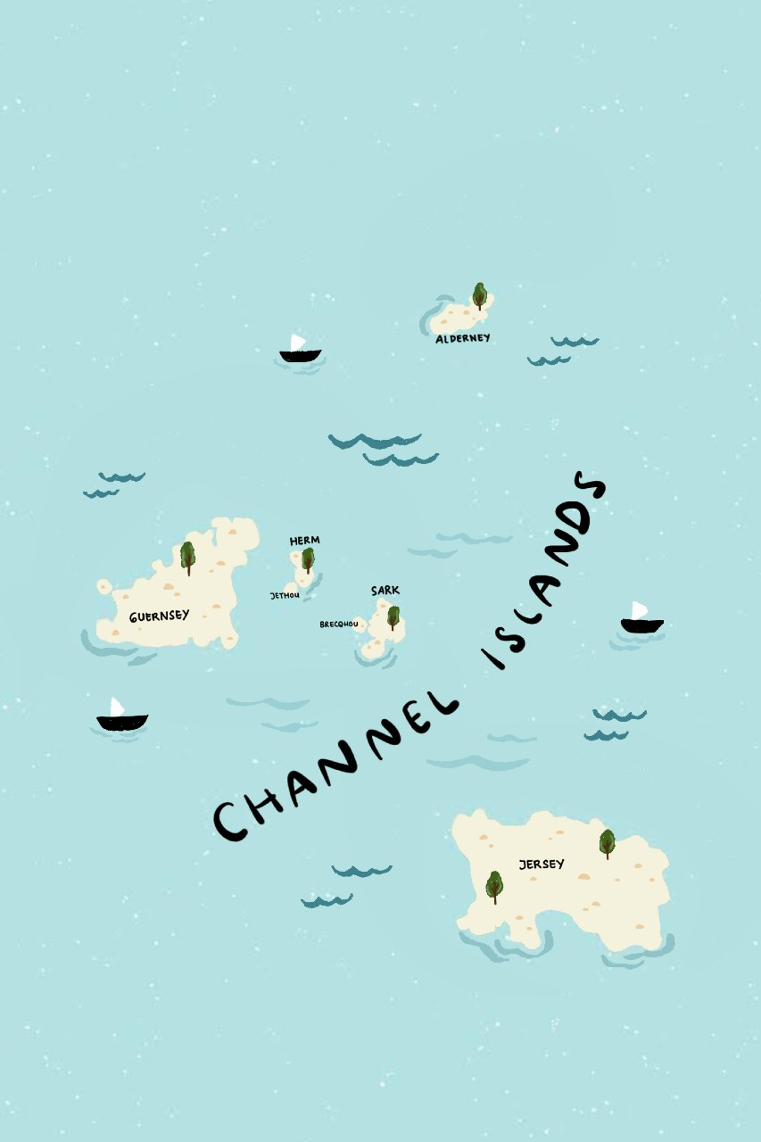 Channel Islands map