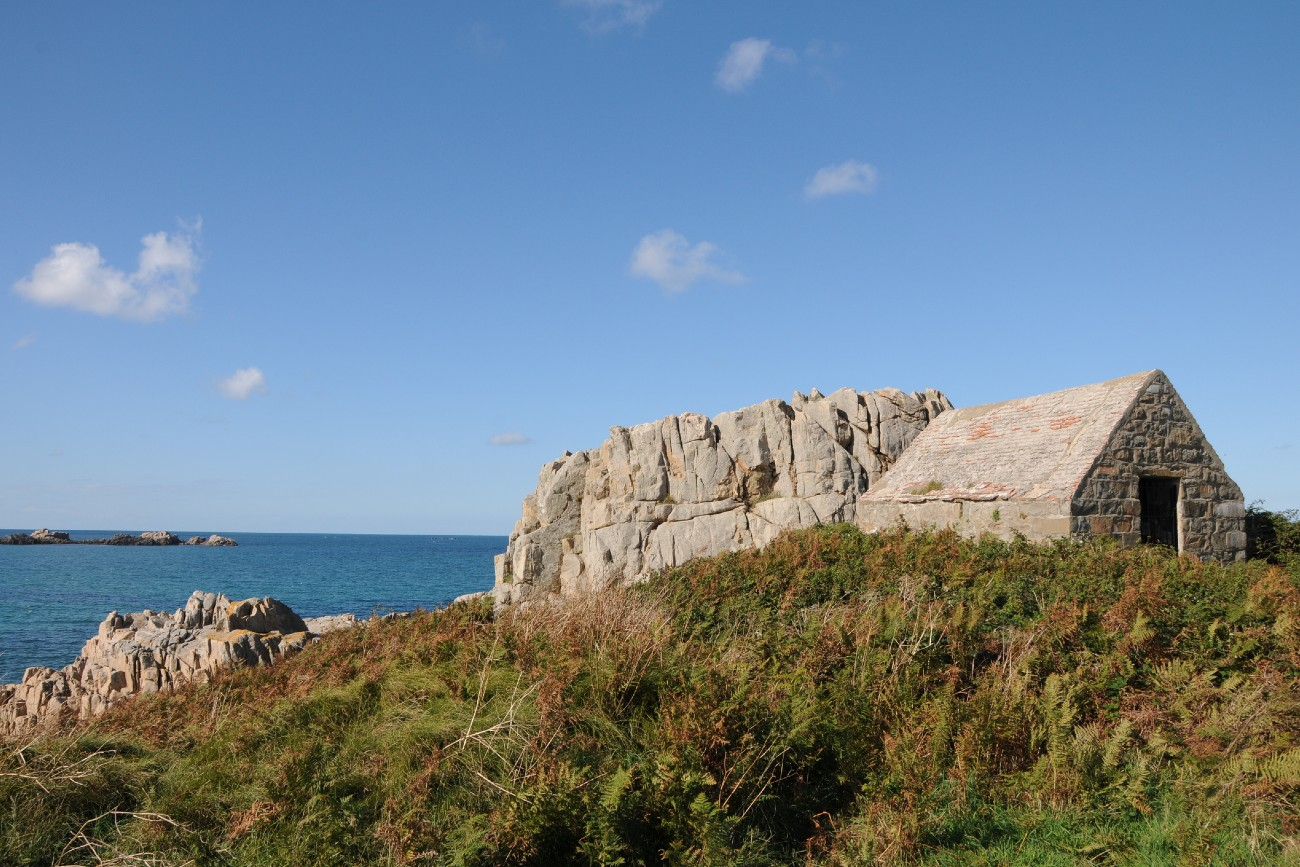 Fort le Marchant on coast at L'Ancresse Bay, Guernsey