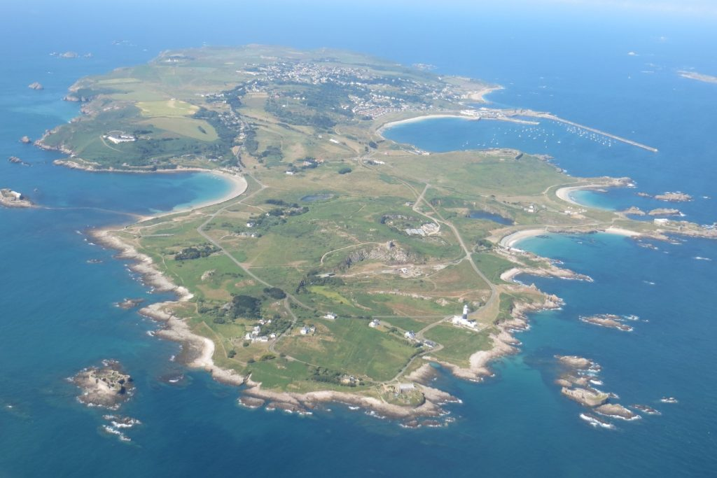 The Island of Alderney in the Channel islands