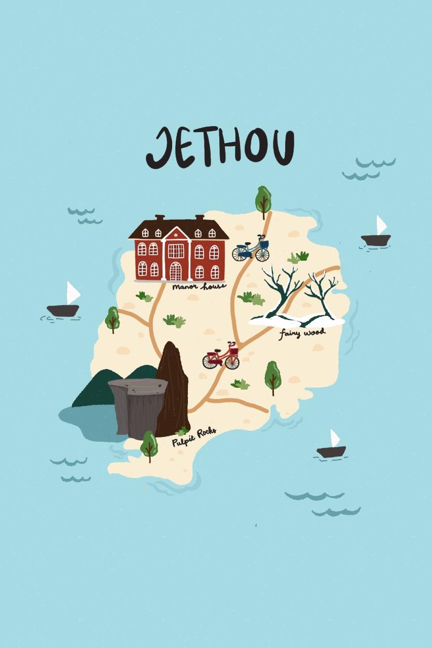 Map of Jethou, Channel Islands