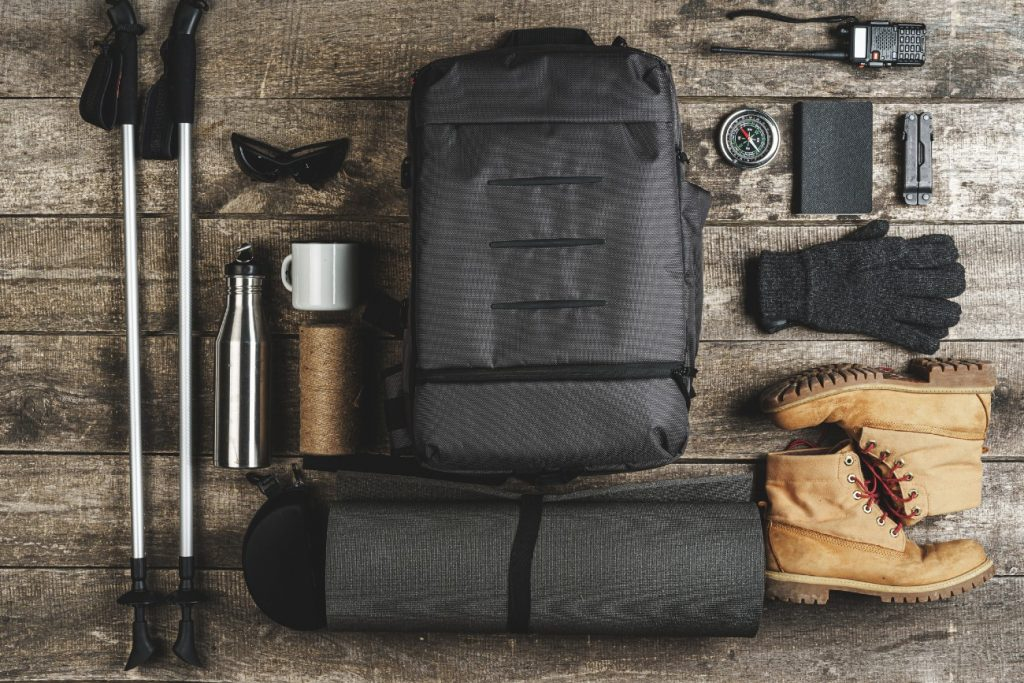 Basic hiking equipment for hiking at Channel Islands