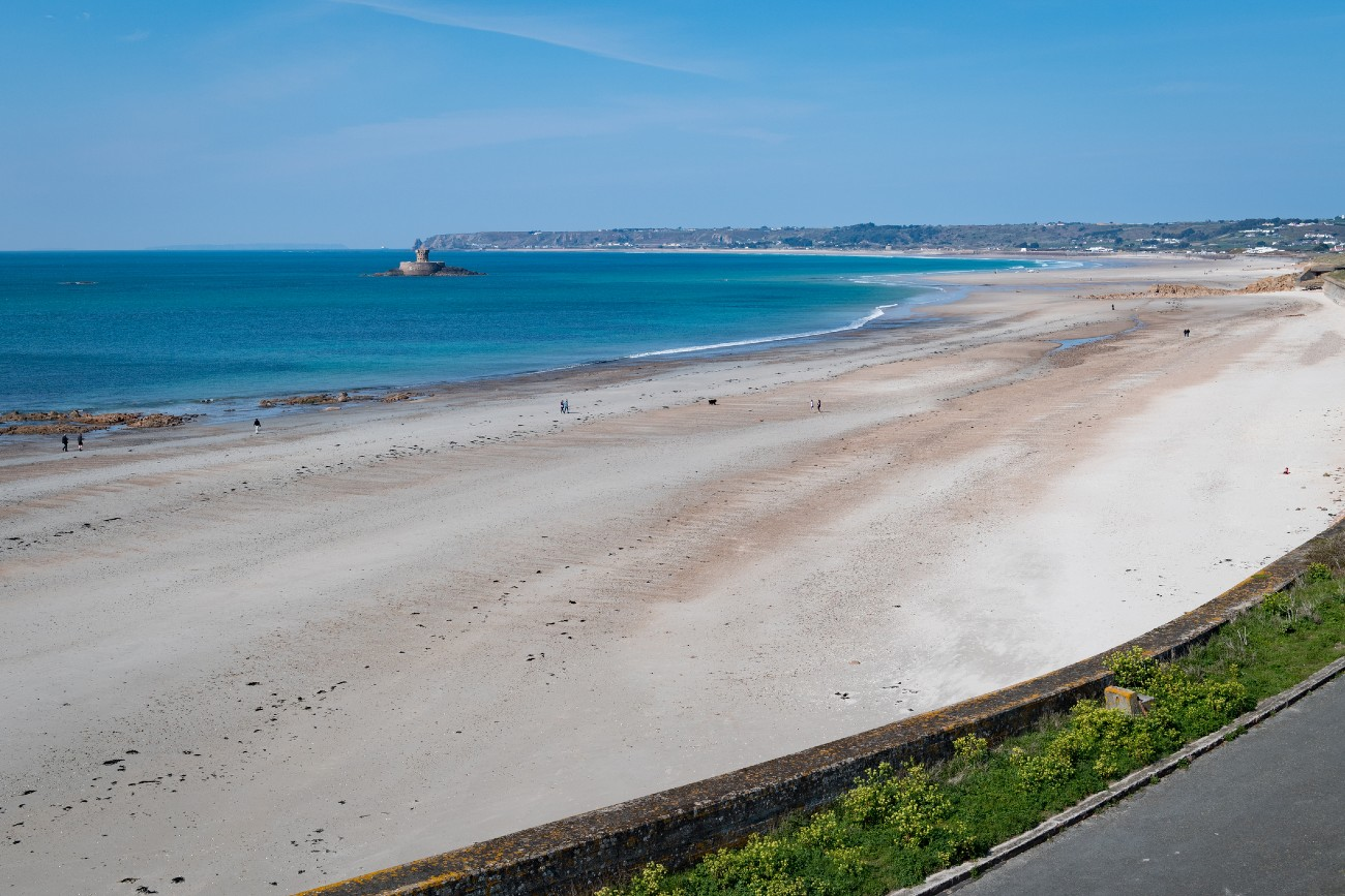 St Ouen`s Bay and the Five Mile Road, Jersey, Channel Islands