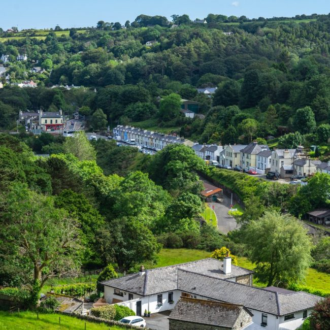 View from above the village of Laxey, Isle of Man