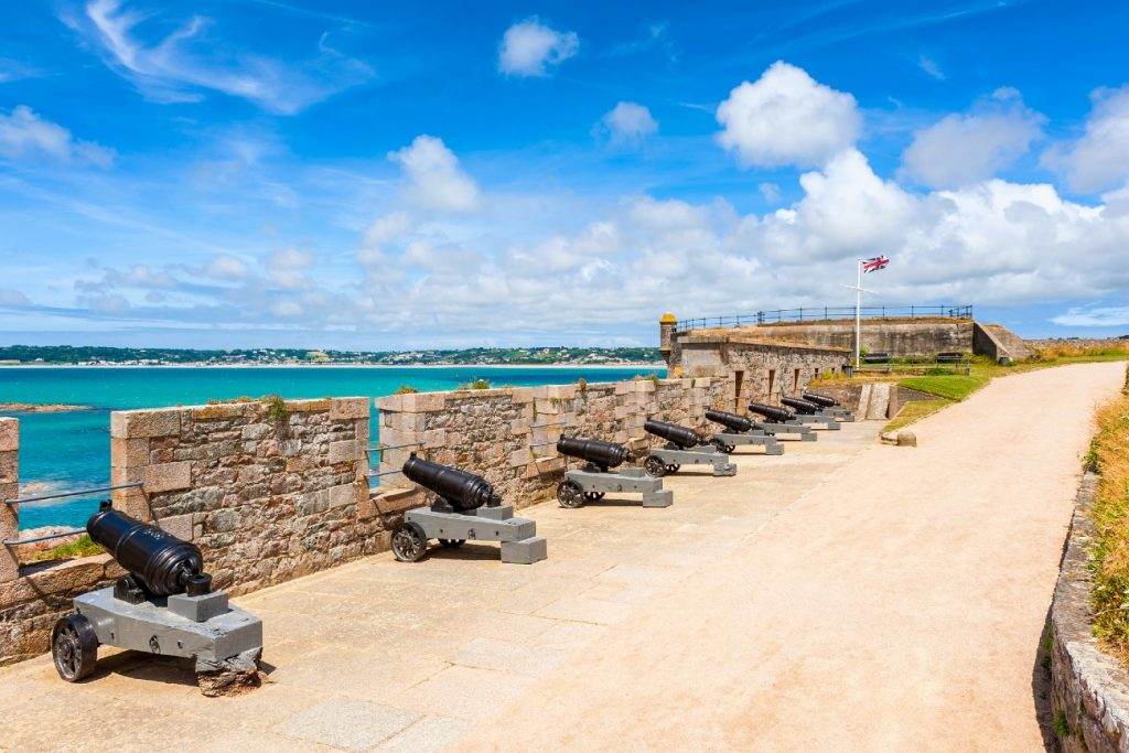 Cannons at Elizabeth Castle Jersey