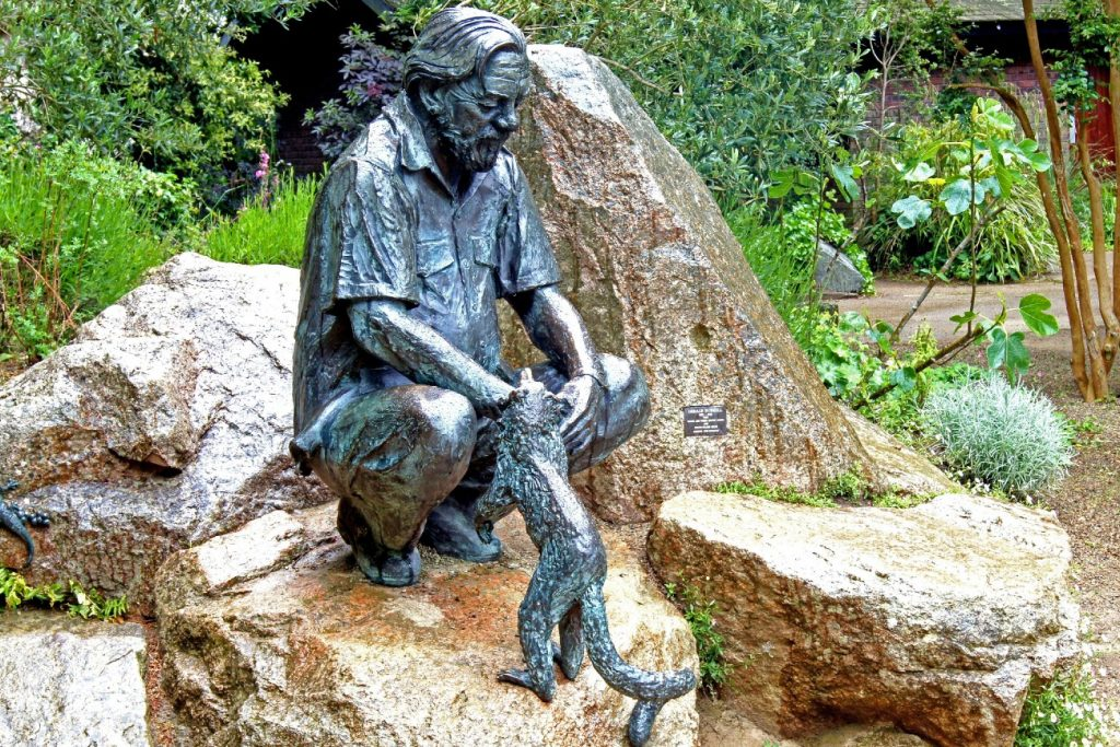 Jersey Zoo - Gerald Durrell statue