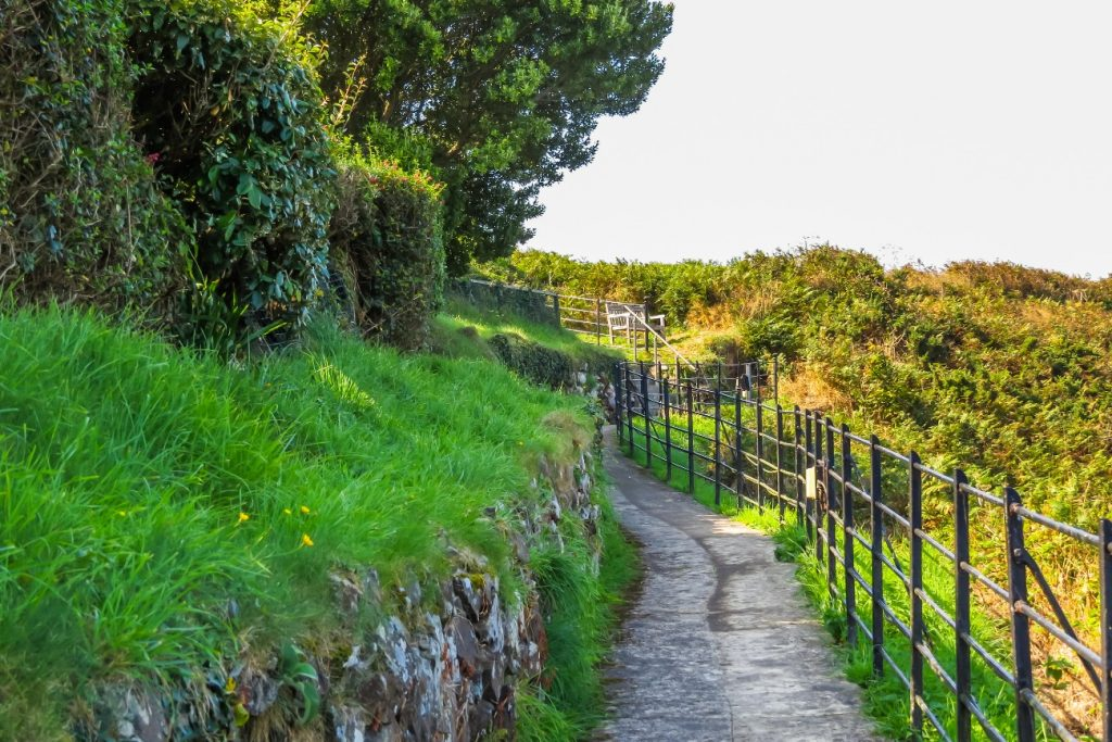 Old footpath at the cliffs, Sark