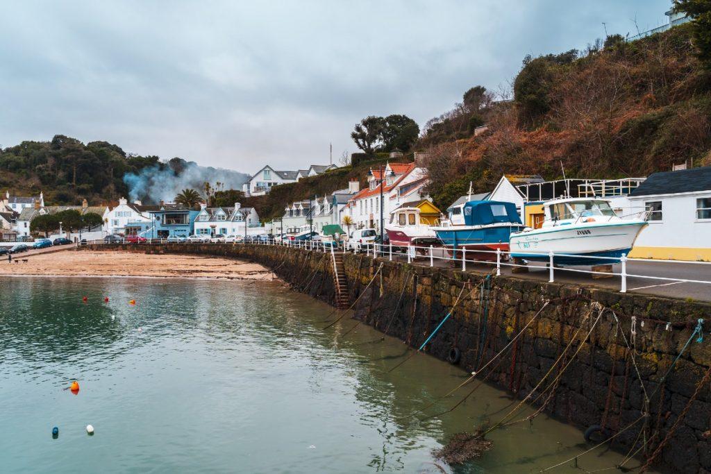 Rozel harbour, Jersey, Channel Islands