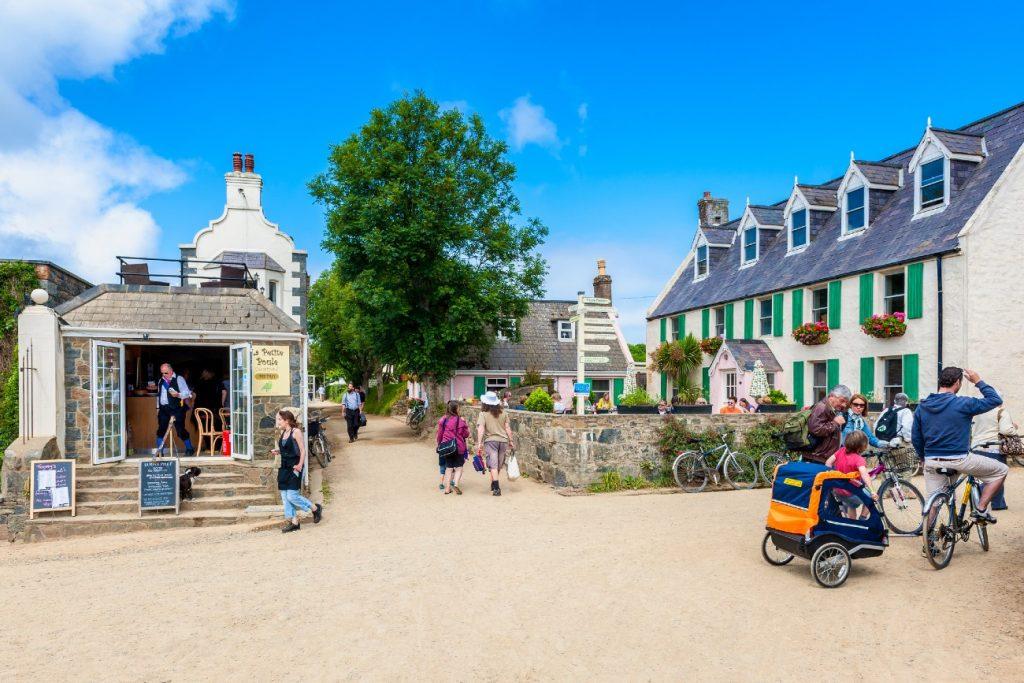 Street in The Village on Sark