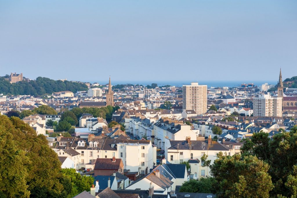 View over Saint Helier, capital of Jersey