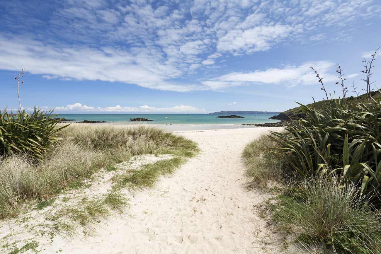 Beach on the channel island of Herm