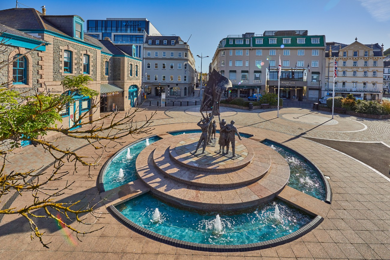 Liberation Square at St Helier, Jersey