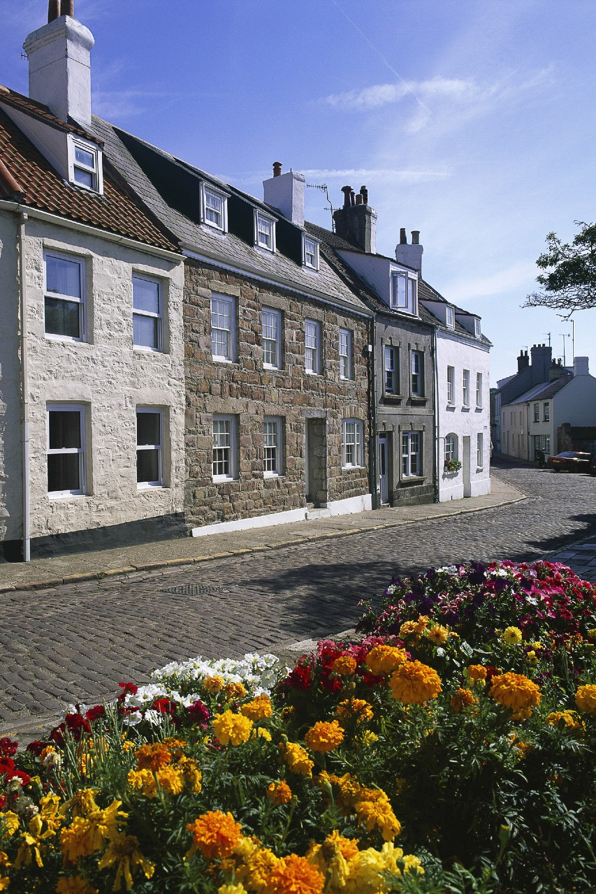 Typical houses in St Anne, Alderney