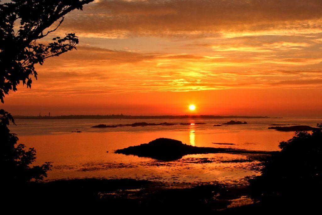 Herm island at sunset