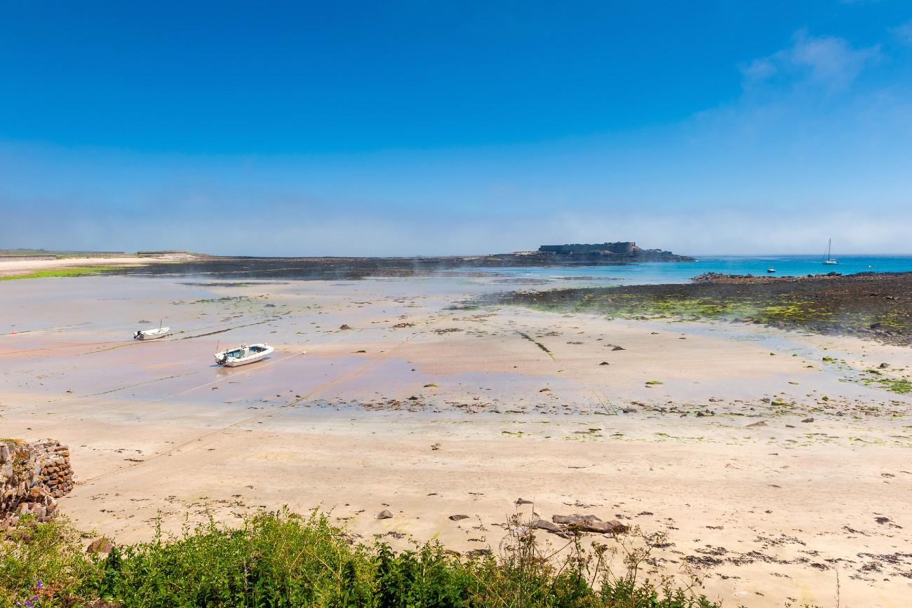 Alderney beach at low tide