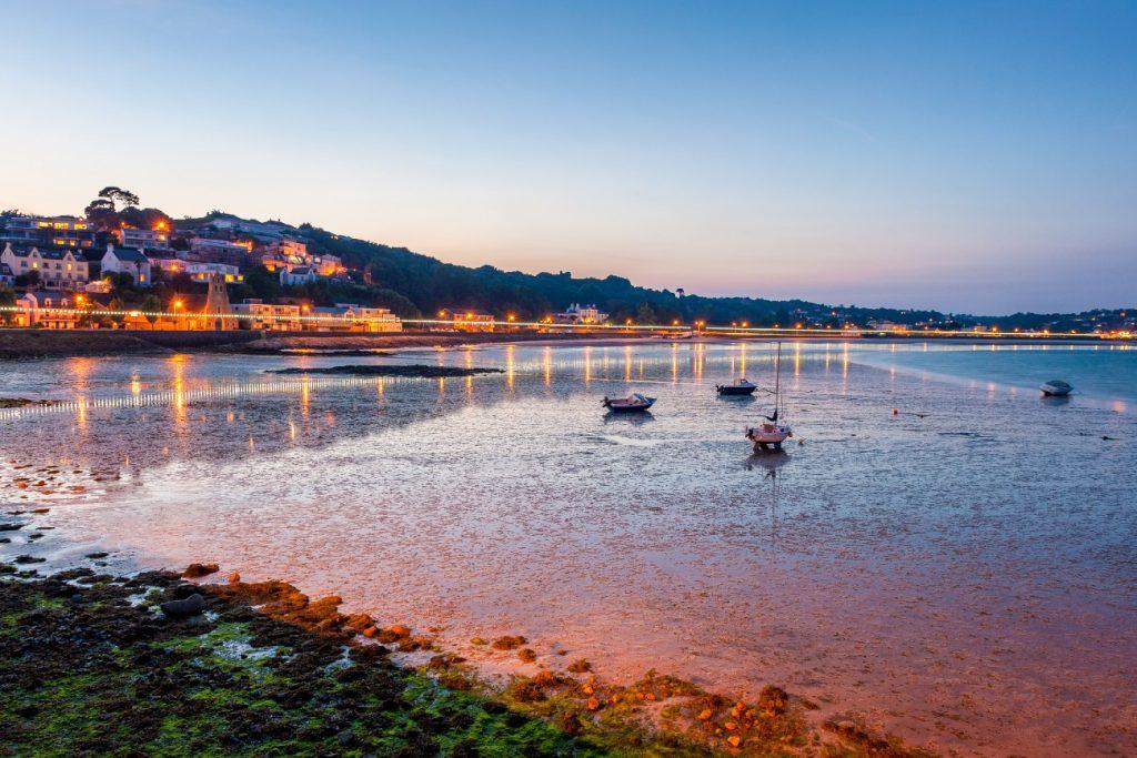 Coastline of Saint Aubin, Jersey