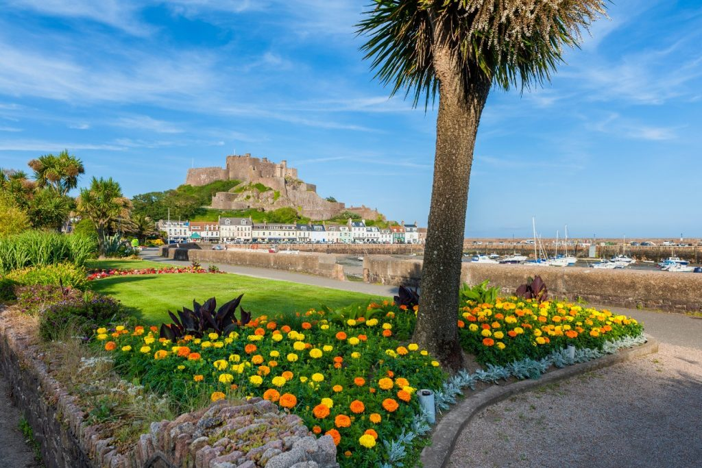 Gorey Castle and Harbour of St Martin, Jersey
