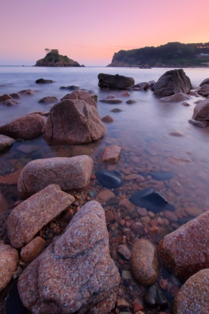 Sunset at Portelet Bay in Jersey