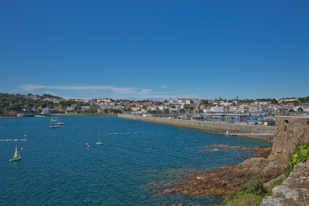 St. Peter Port in Guernsey, Channel Islands