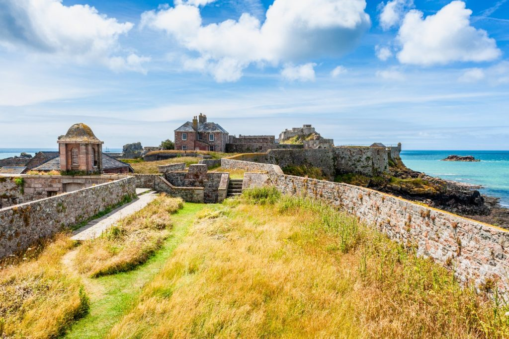 Elizabeth Castle, off the coast of Saint Helier