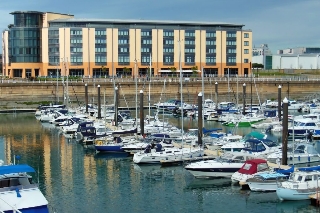 Marina at Saint Helier in Jersey