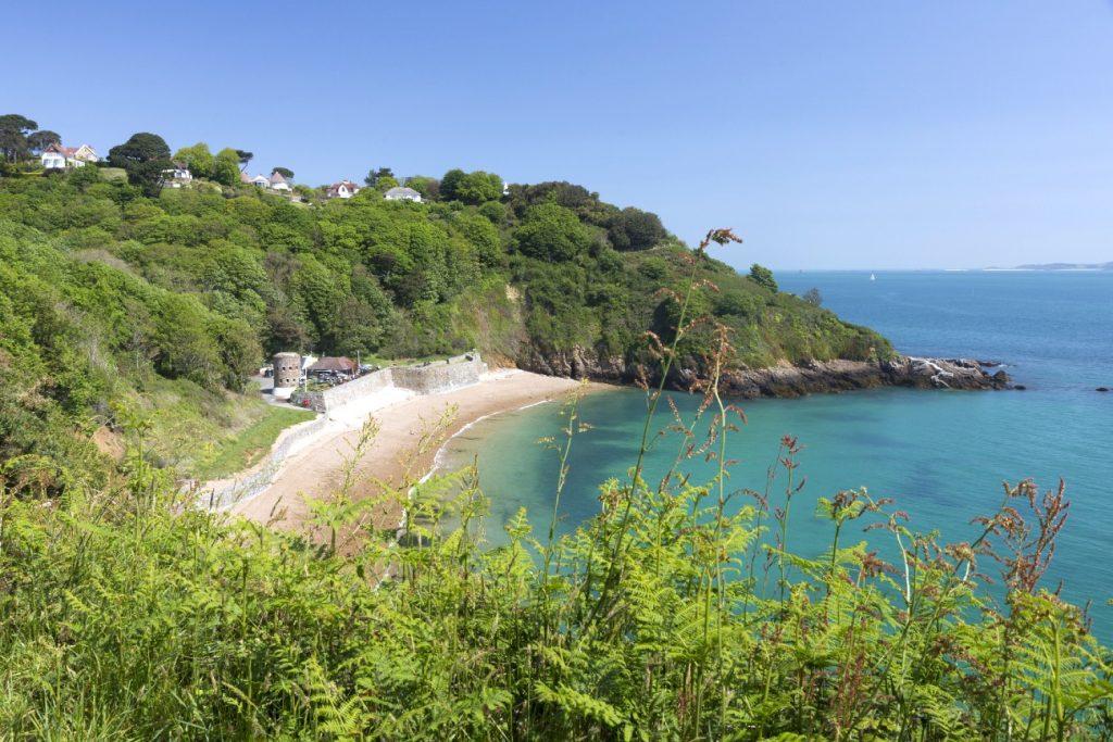 South coast of Guernsey island, UK