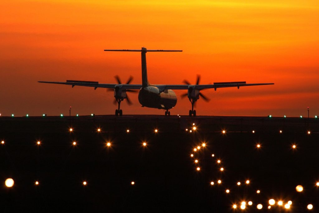 Take-off from Guernsey airport