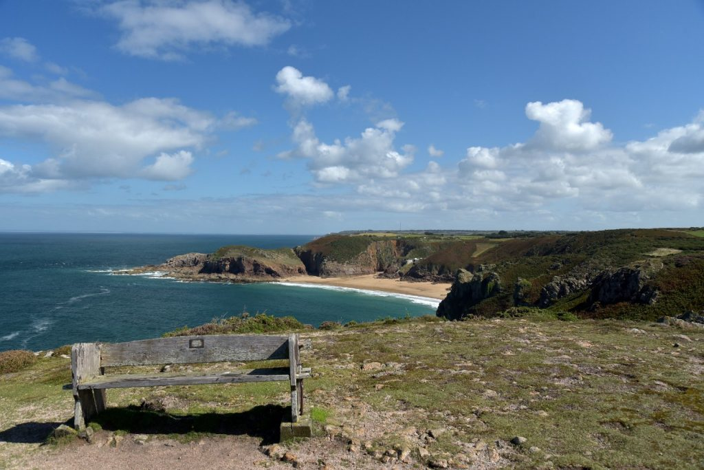View over Plemont Bay, Jersey