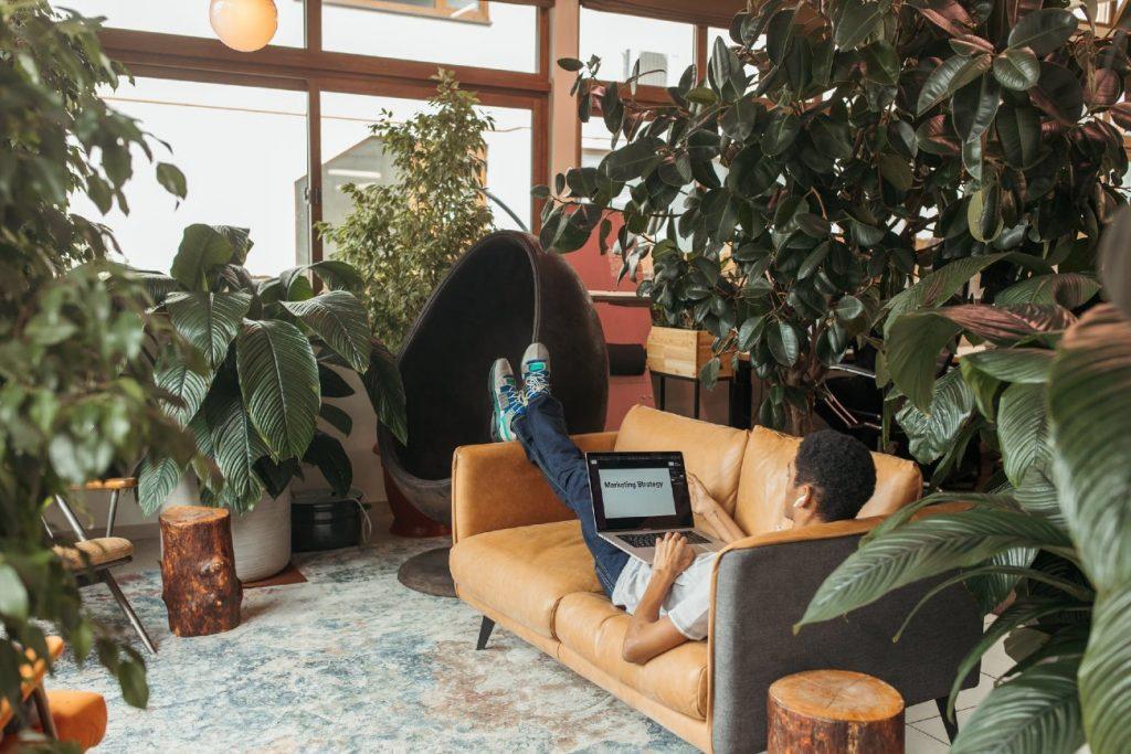 Social space to take breaks